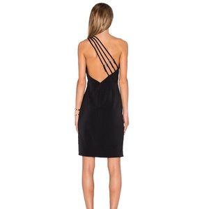 NBD Moonlit Little Black One Shoulder Dress.